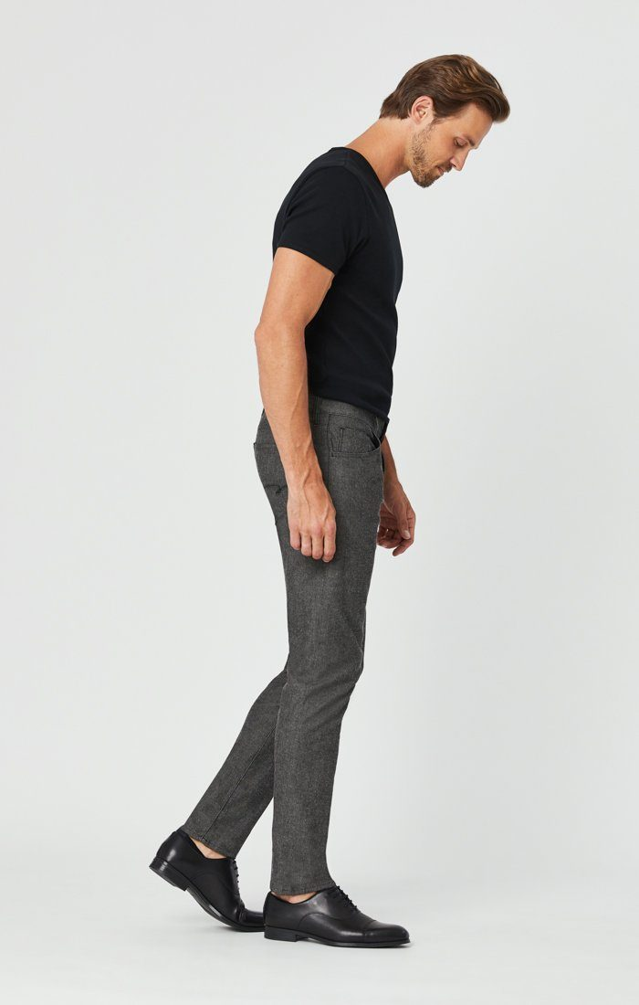 JAKE SLIM LEG PANTS IN BLACK MELANGE FEATHER TWEED Image 4