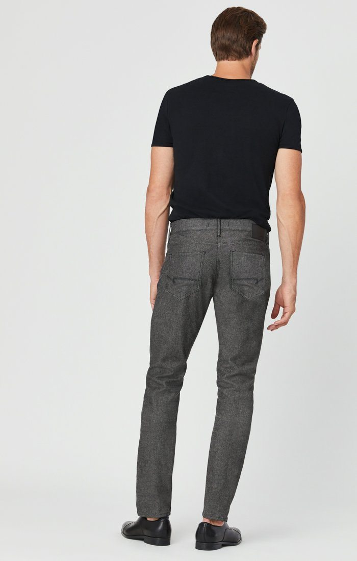 JAKE SLIM LEG PANTS IN BLACK MELANGE FEATHER TWEED Image 6