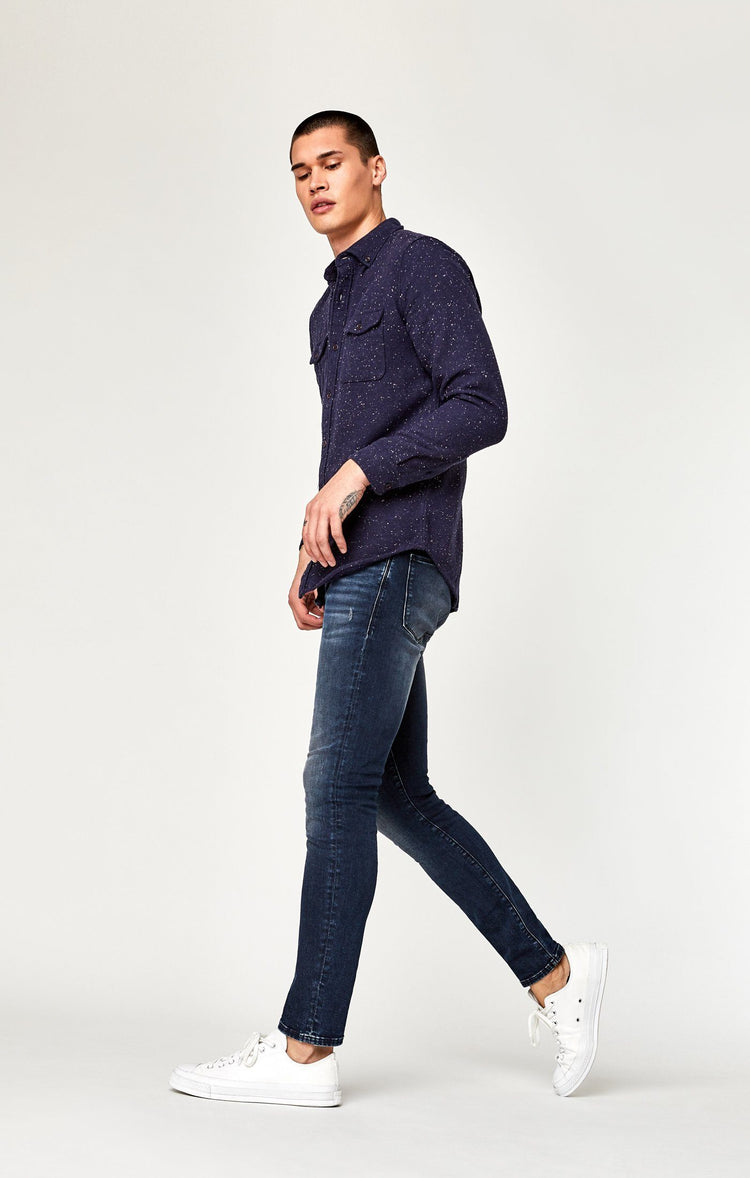 JAMES SKINNY IN INK BRUSHED AUTHENTIC VINTAGE - Mavi Jeans