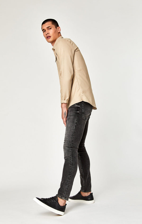 JAMES SKINNY IN DARK GREY BROOKLYN - Mavi Jeans