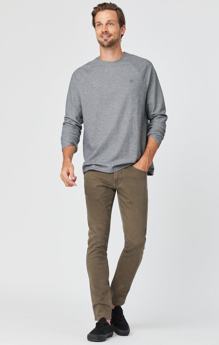 JAMES SKINNY IN KHAKI WASHED COMFORT Image 3