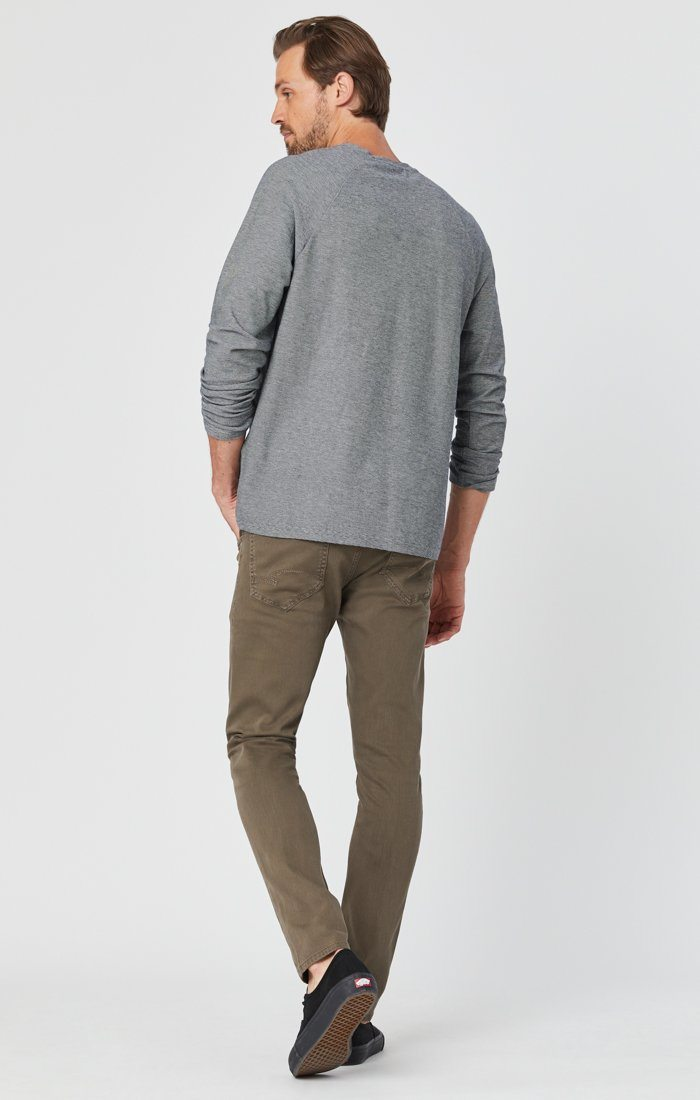 JAMES SKINNY IN KHAKI WASHED COMFORT Image 5