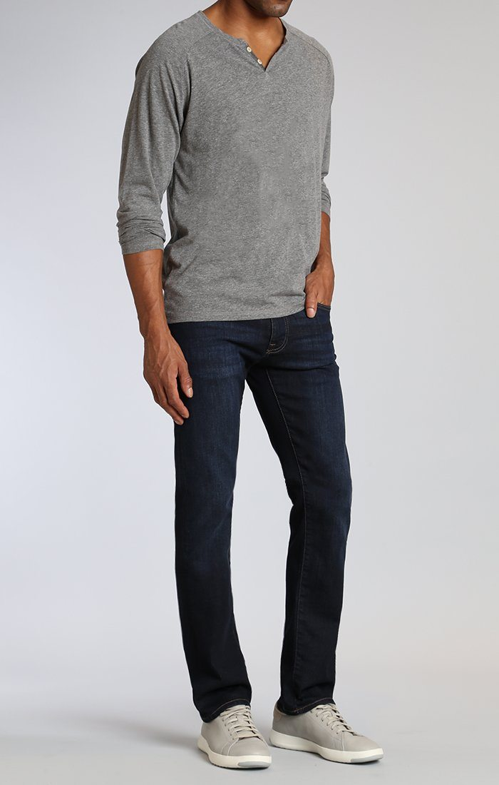 MYLES STRAIGHT LEG IN DEEP BRUSHED STANFORD - Mavi Jeans