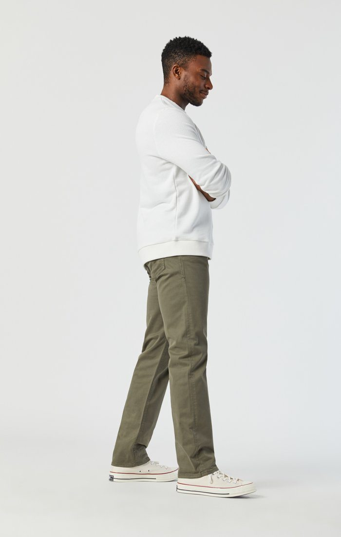 ZACH STRAIGHT LEG IN DUSTY OLIVE TWILL Image 4