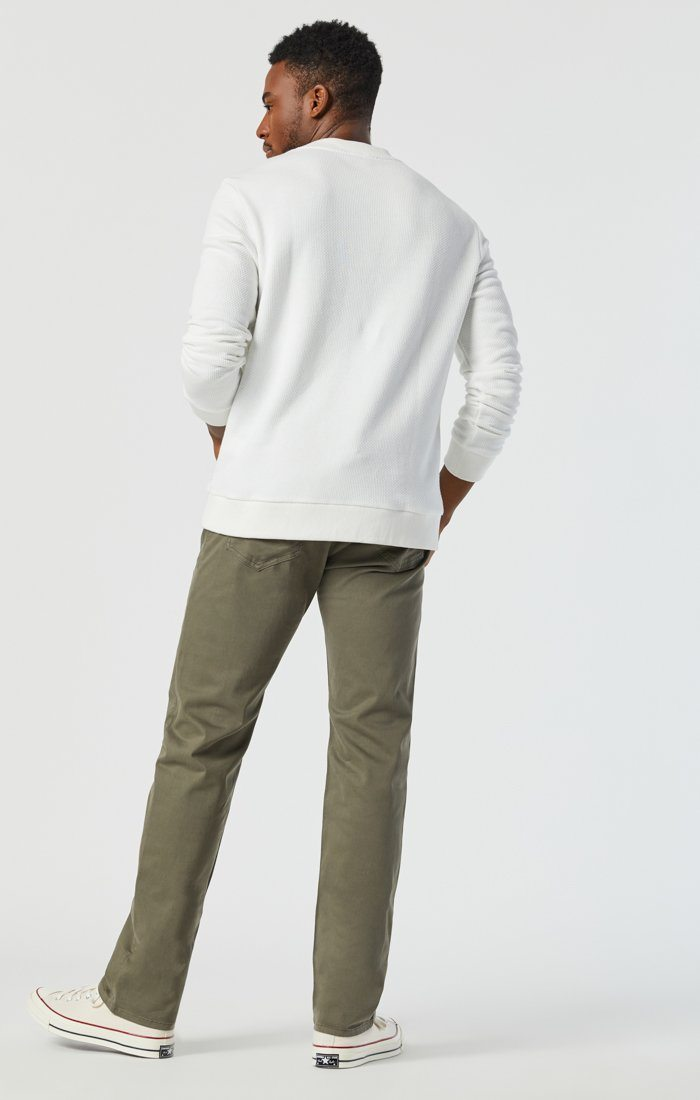 ZACH STRAIGHT LEG IN DUSTY OLIVE TWILL Image 5