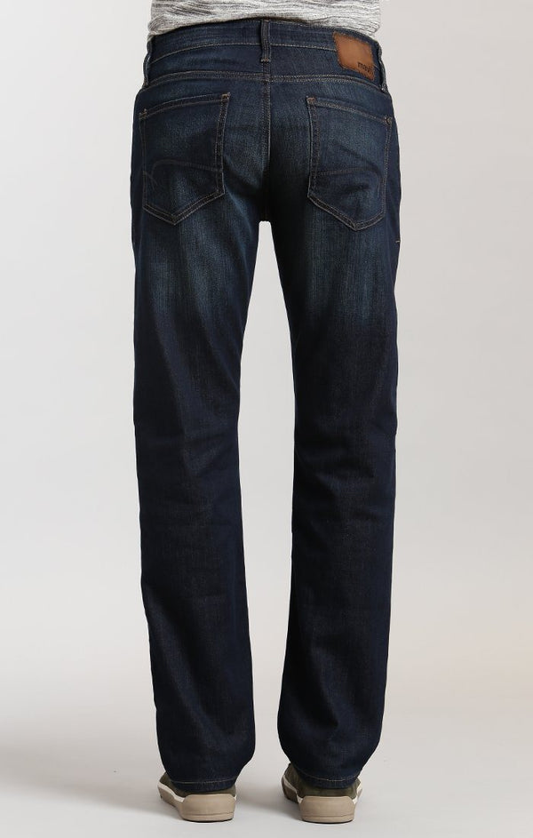 ZACH STRAIGHT LEG IN DARK FOGGY CAPITOL HILL - Mavi Jeans