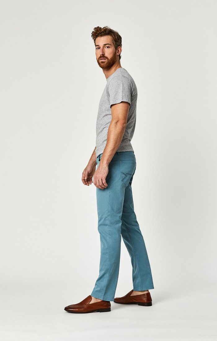 ZACH STRAIGHT LEG IN SMOKE BLUE SATEEN TWILL - Mavi Jeans