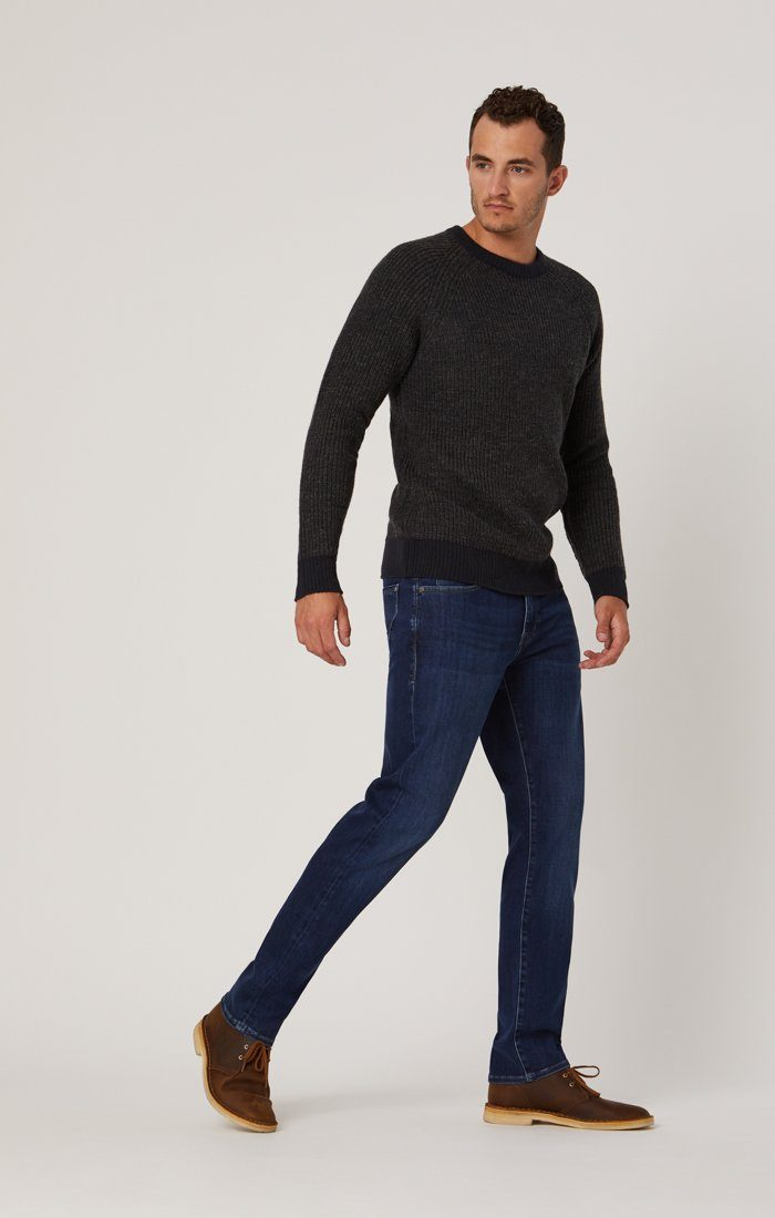 ZACH STRAIGHT LEG IN INK BRUSHED CASHMERE - Mavi Jeans