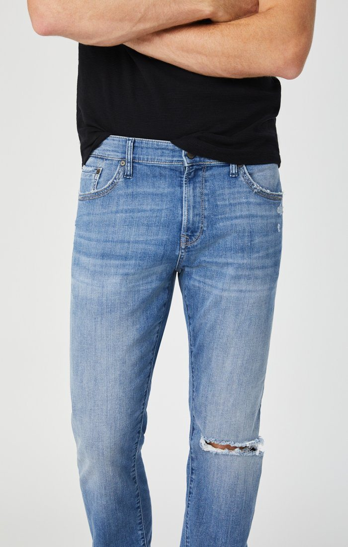 ZACH STRAIGHT LEG IN INDIGO RIPPED AUTHENTIC VINTAGE - Mavi Jeans