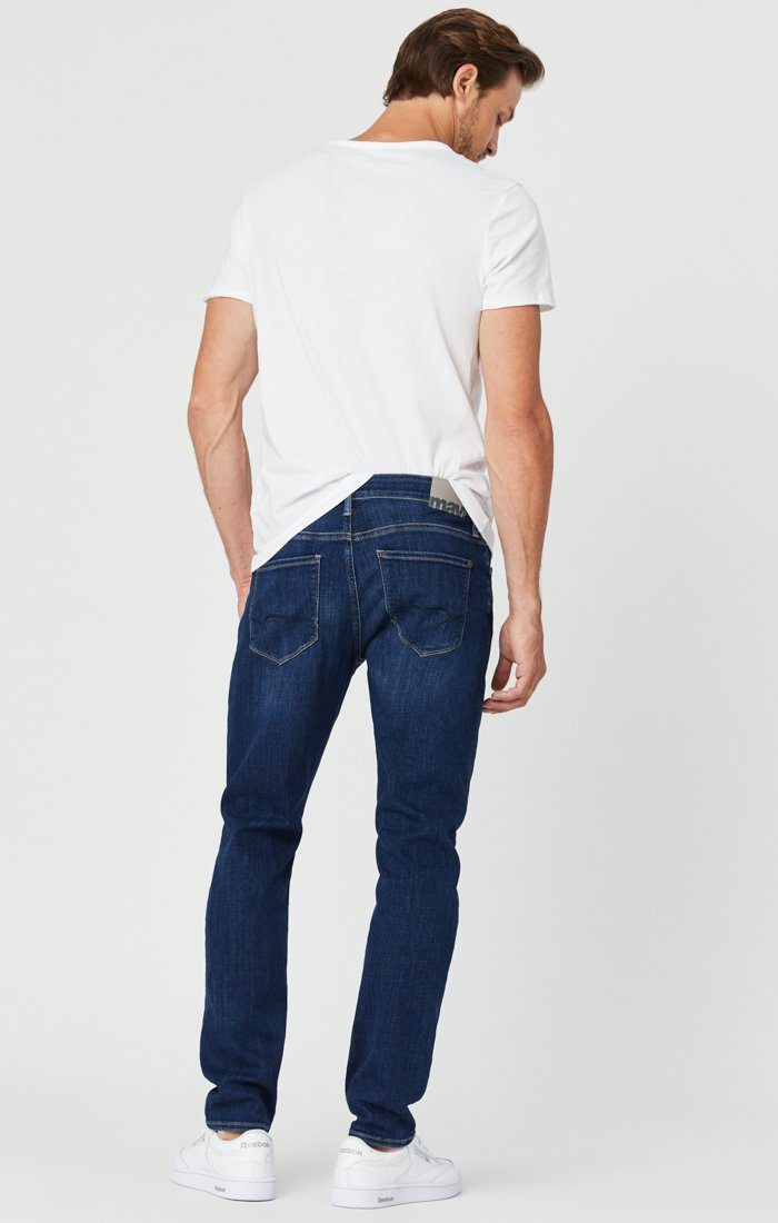 ZACH STRAIGHT LEG JEANS IN DARK FEATHER BLUE Image 3