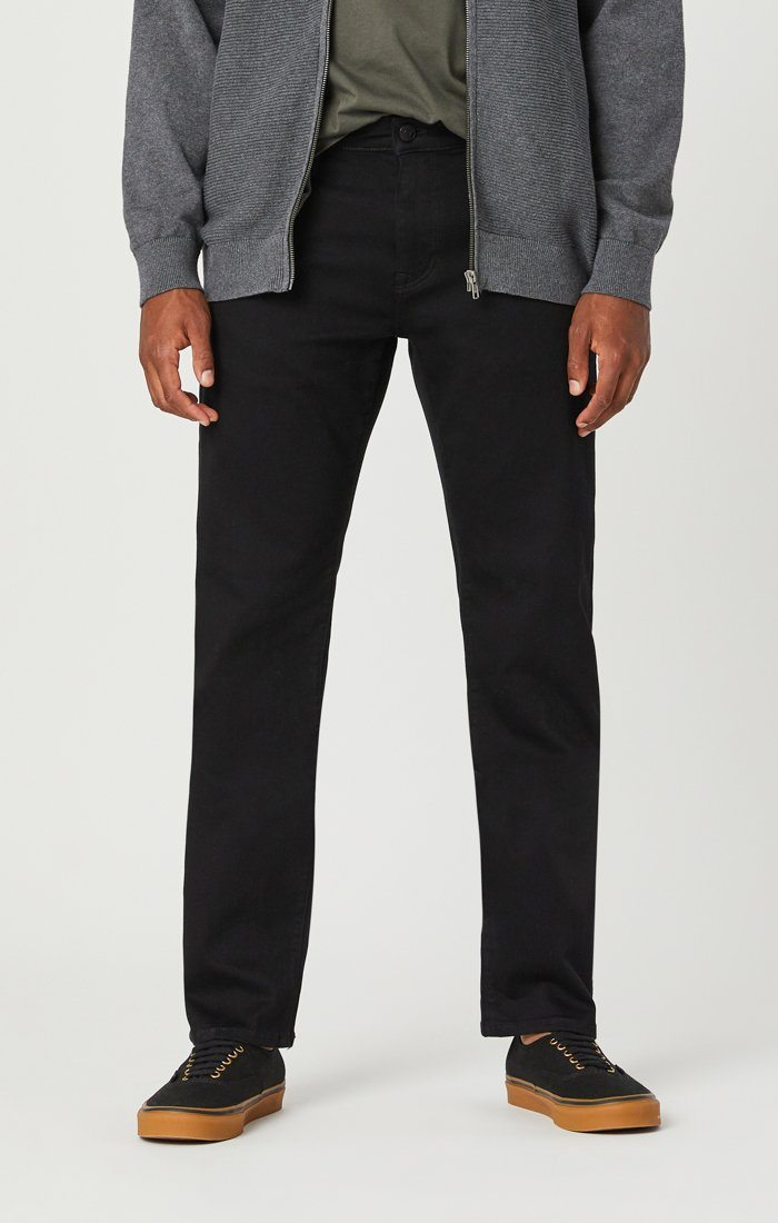 ZACH STRAIGHT LEG JEANS IN DOUBLE BLACK SUPERMOVE Image 2