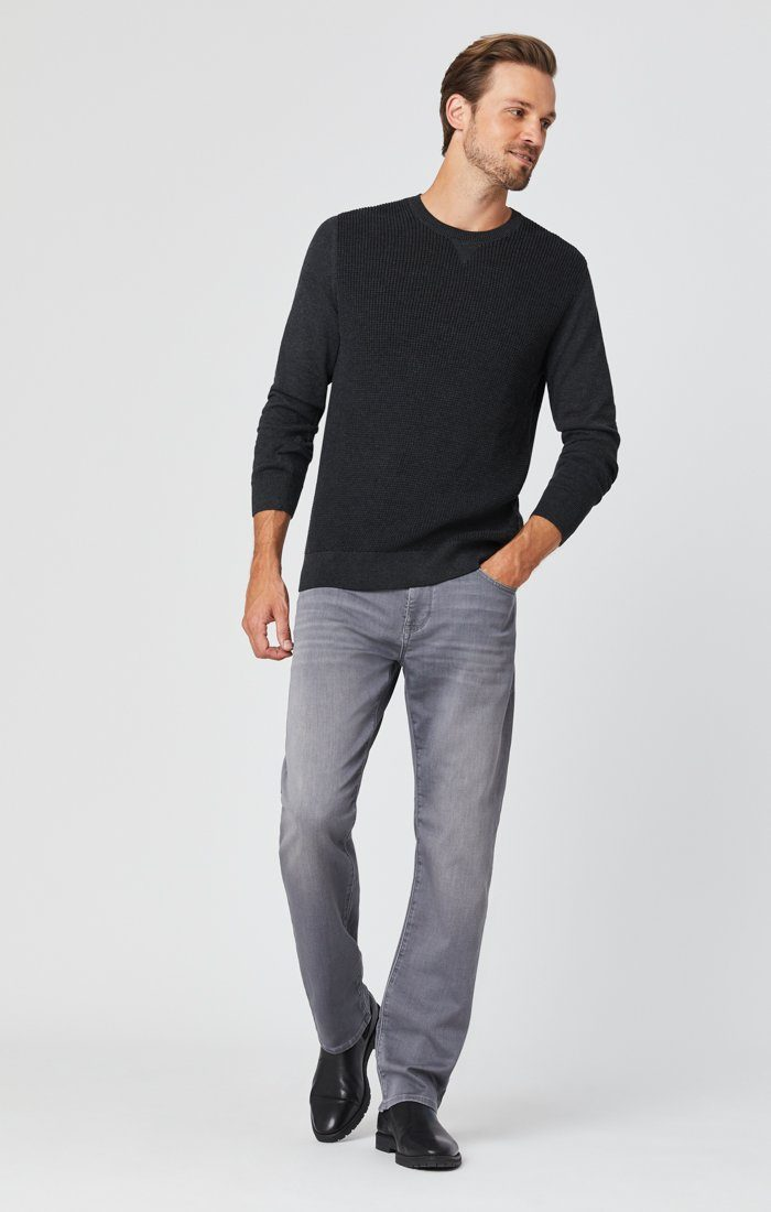 ZACH STRAIGHT LEG JEANS IN MID GREY ATHLETIC Image 6