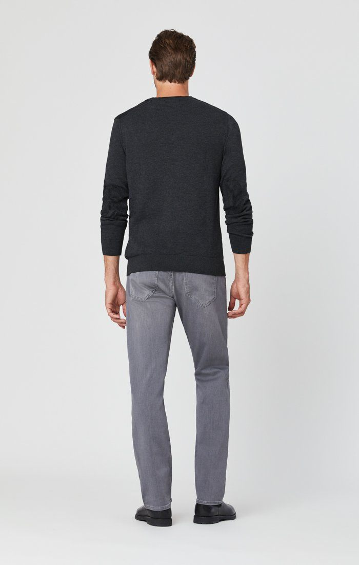 ZACH STRAIGHT LEG JEANS IN MID GREY ATHLETIC Image 3