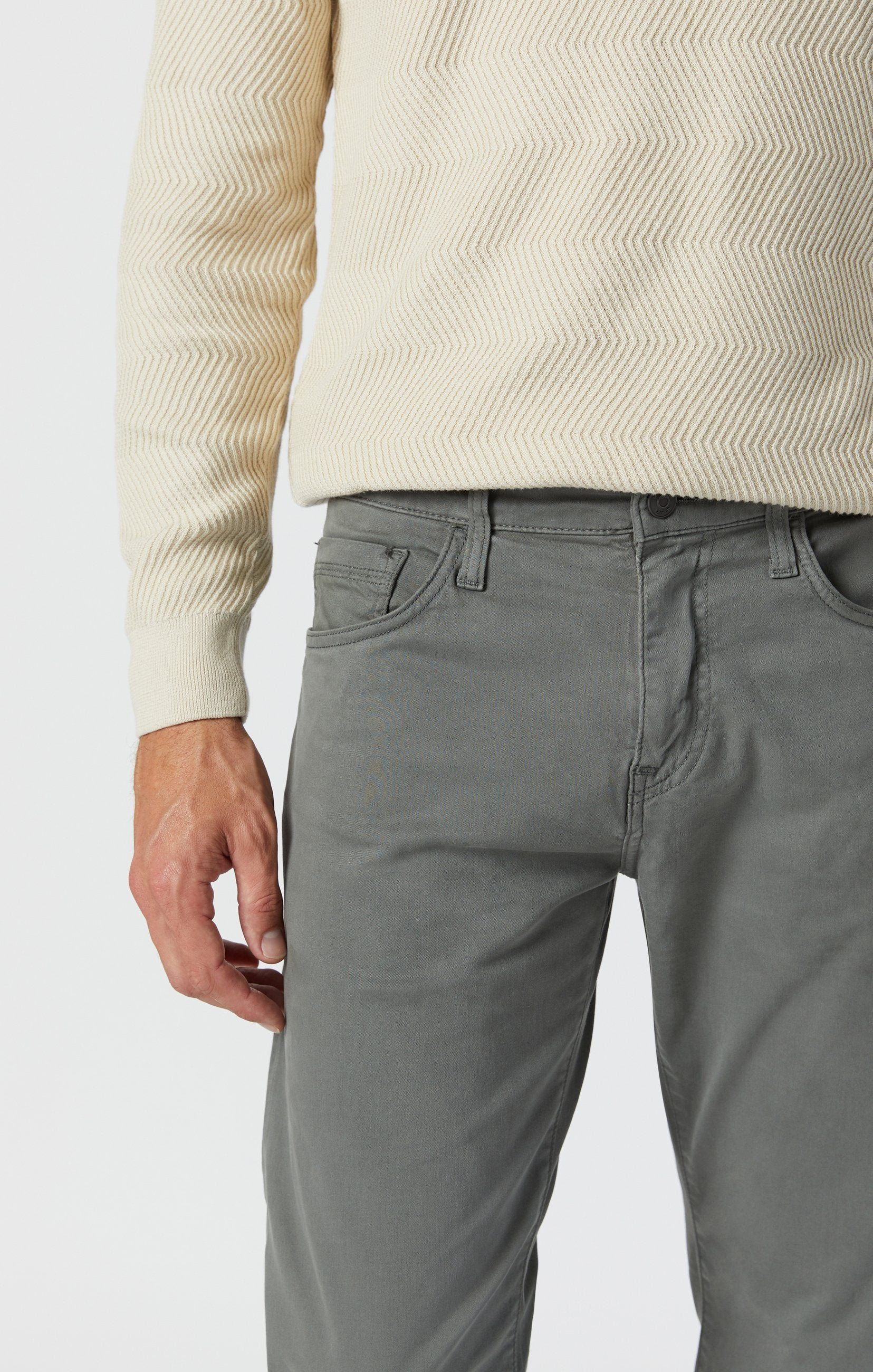 ZACH STRAIGHT LEG PANTS IN CASTOR GREEN SATEEN Image 7