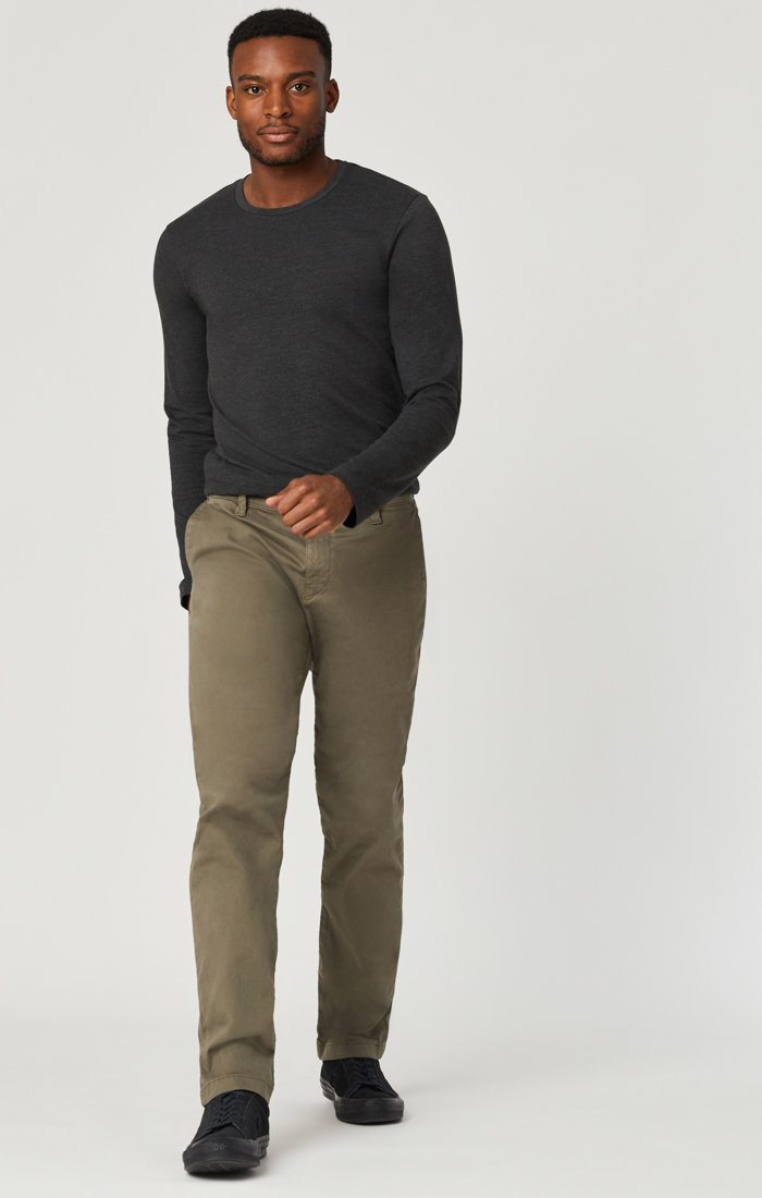 EDWARD CHINO IN EDWARD DUSTY OLIVE TWILL Image 1