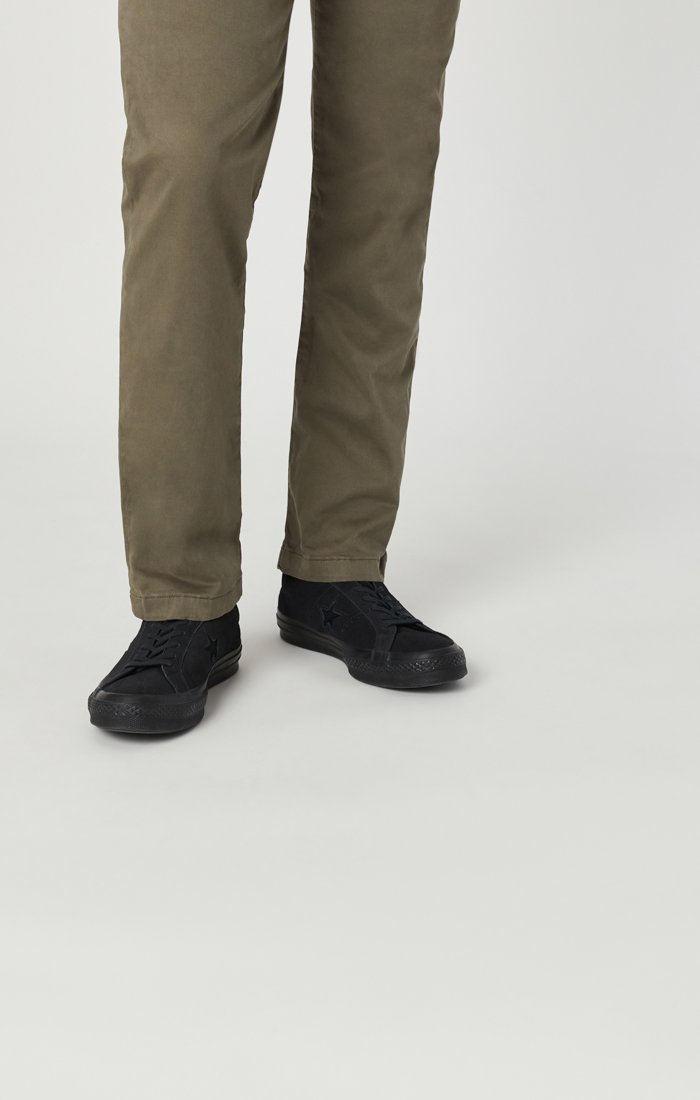 EDWARD CHINO IN EDWARD DUSTY OLIVE TWILL Image 6