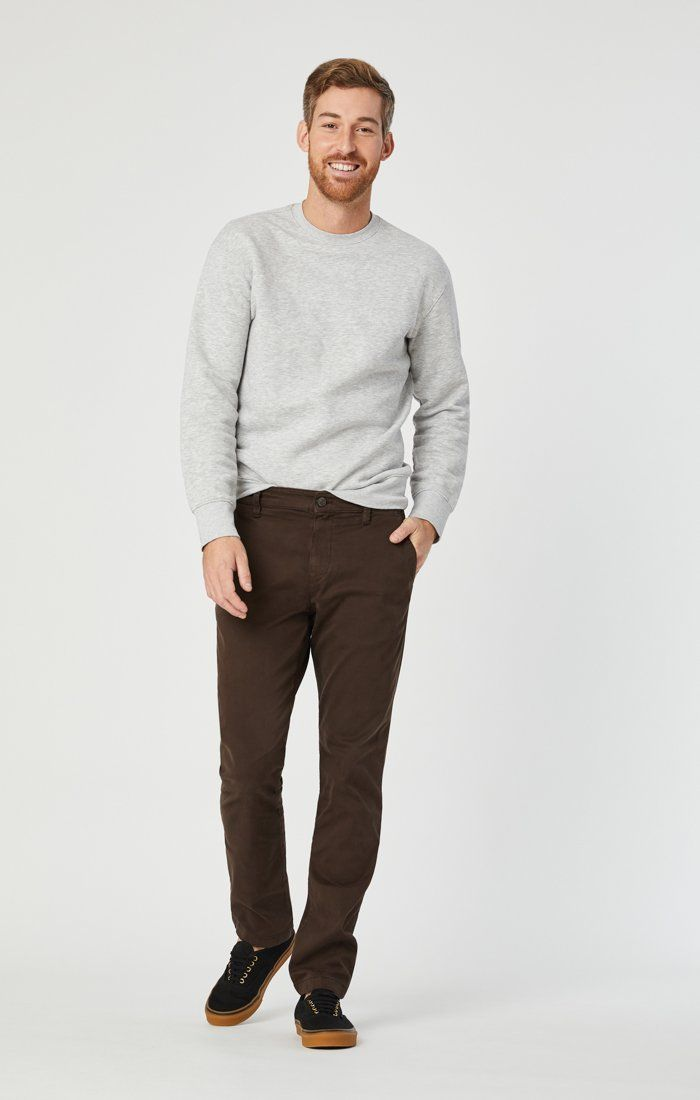 EDWARD CHINO IN COFFEE BEAN TWILL Image 1