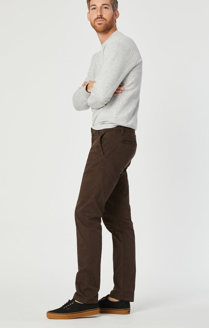 EDWARD CHINO IN COFFEE BEAN TWILL Image 3