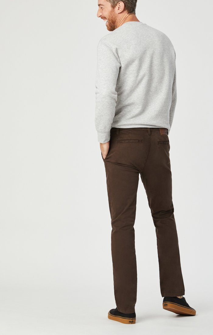 EDWARD CHINO IN COFFEE BEAN TWILL Image 4