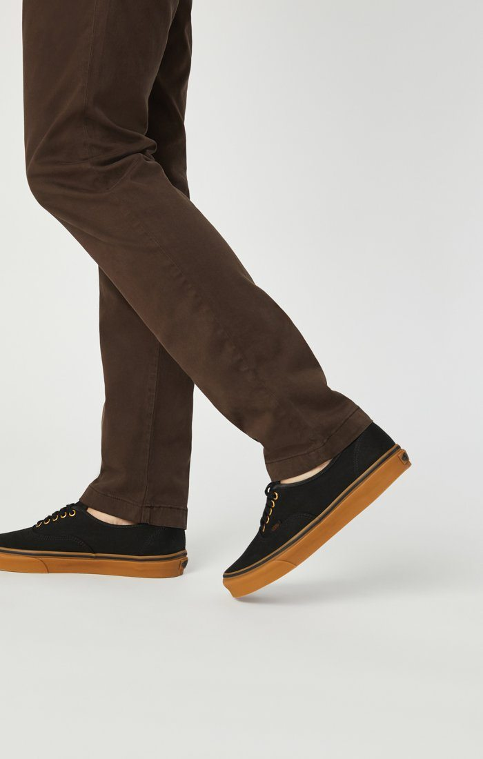 EDWARD CHINO IN COFFEE BEAN TWILL Image 6