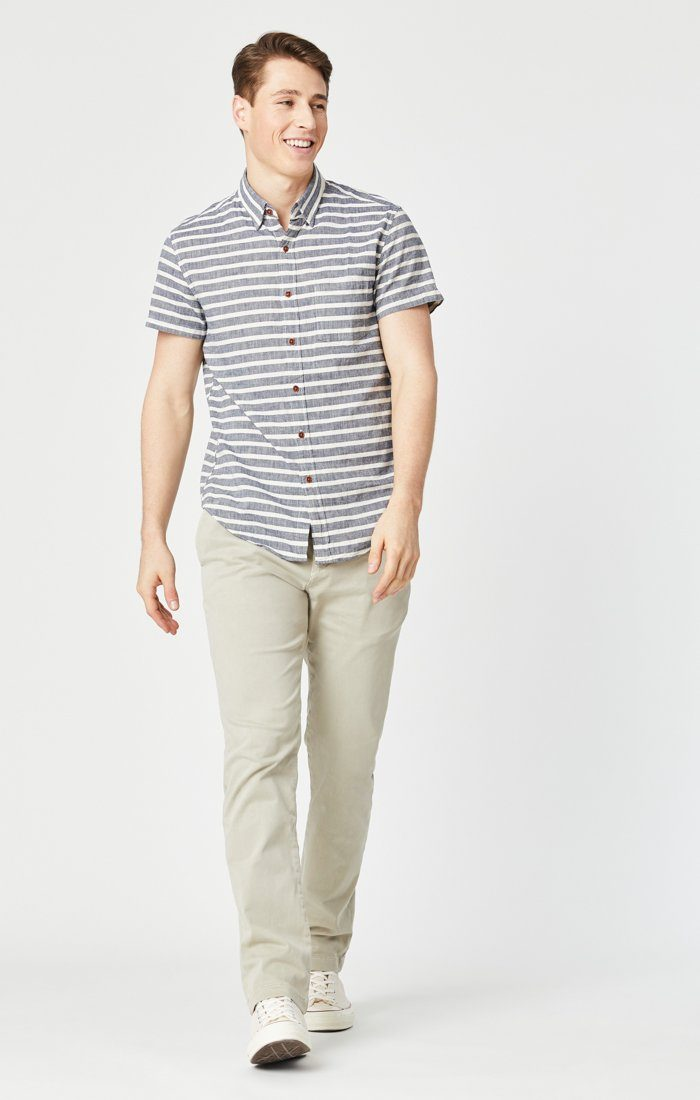 EDWARD SLIM STRAIGHT CHINO IN STONE GREY SATEEN TWILL Image 8