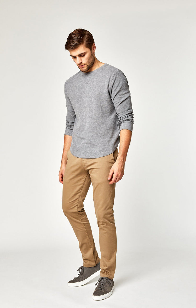JOHNNY SLIM LEG CHINO IN BRITISH KHAKI TWILL