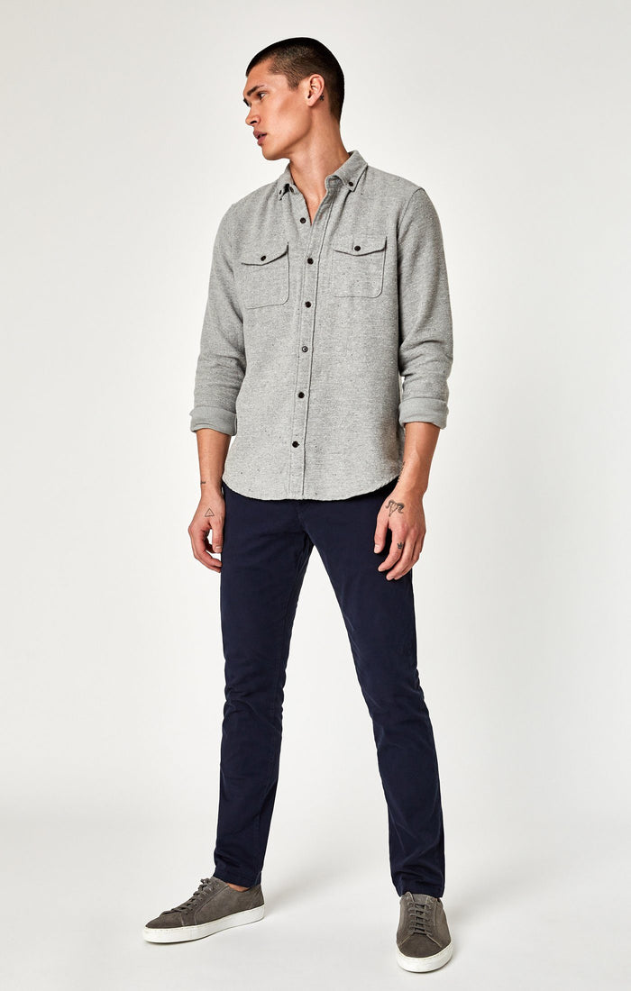 JOHNNY SLIM CHINO IN DARK NAVY TWILL - Mavi Jeans