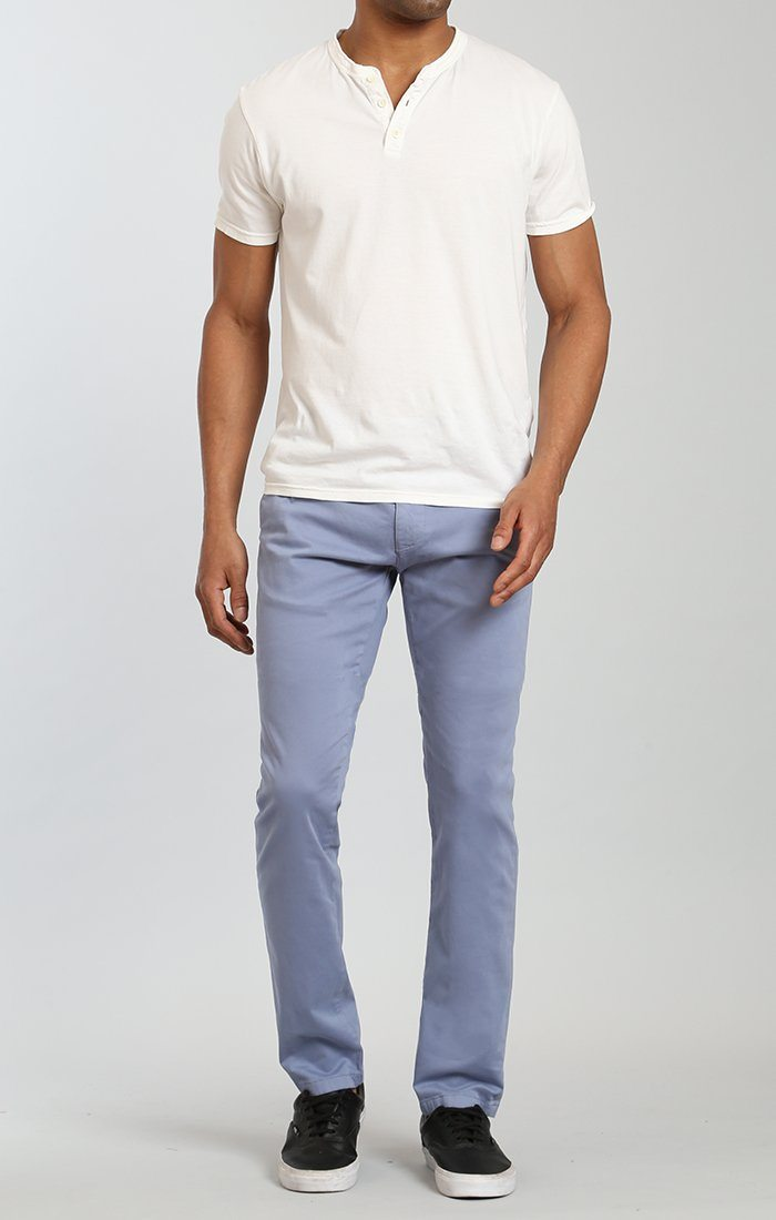 JOHNNY SLIM LEG CHINO IN STONE WASHED TWILL