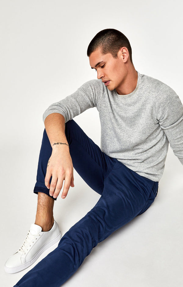 JOHNNY SLIM CHINO IN MARINE BLUE TWILL - Mavi Jeans