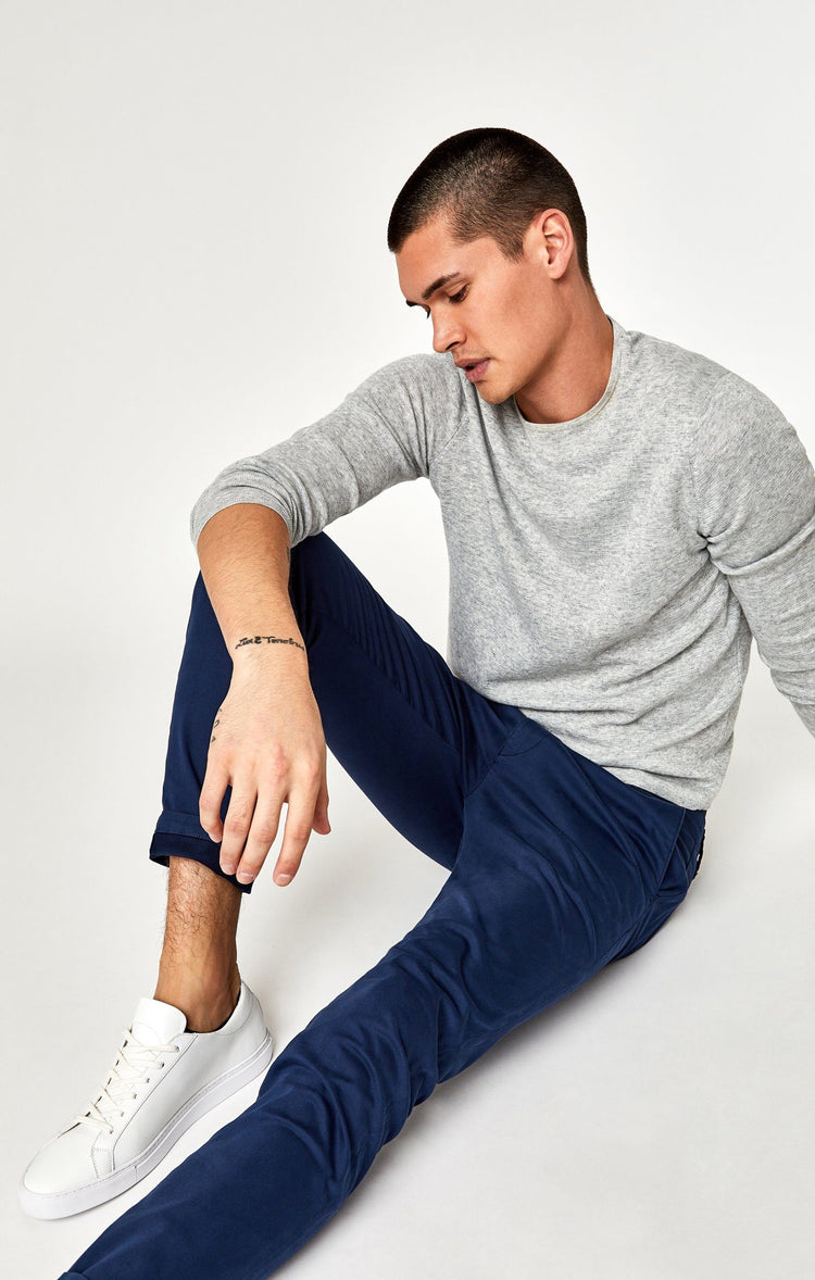 JOHNNY SLIM CHINO IN MARINE BLUE TWILL