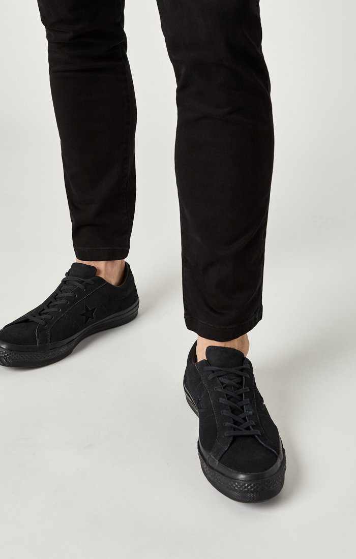 JOHNNY SLIM CHINO IN BLACK SATEEN TWILL Image 9