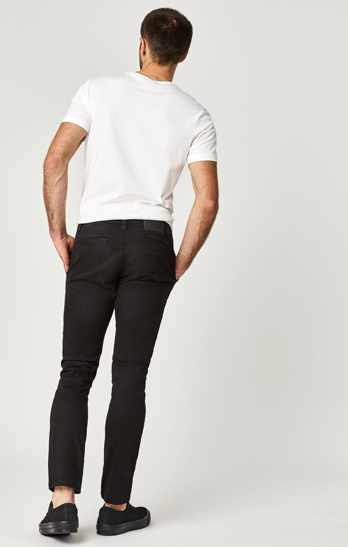 JOHNNY SLIM CHINO IN BLACK SATEEN TWILL Image 10