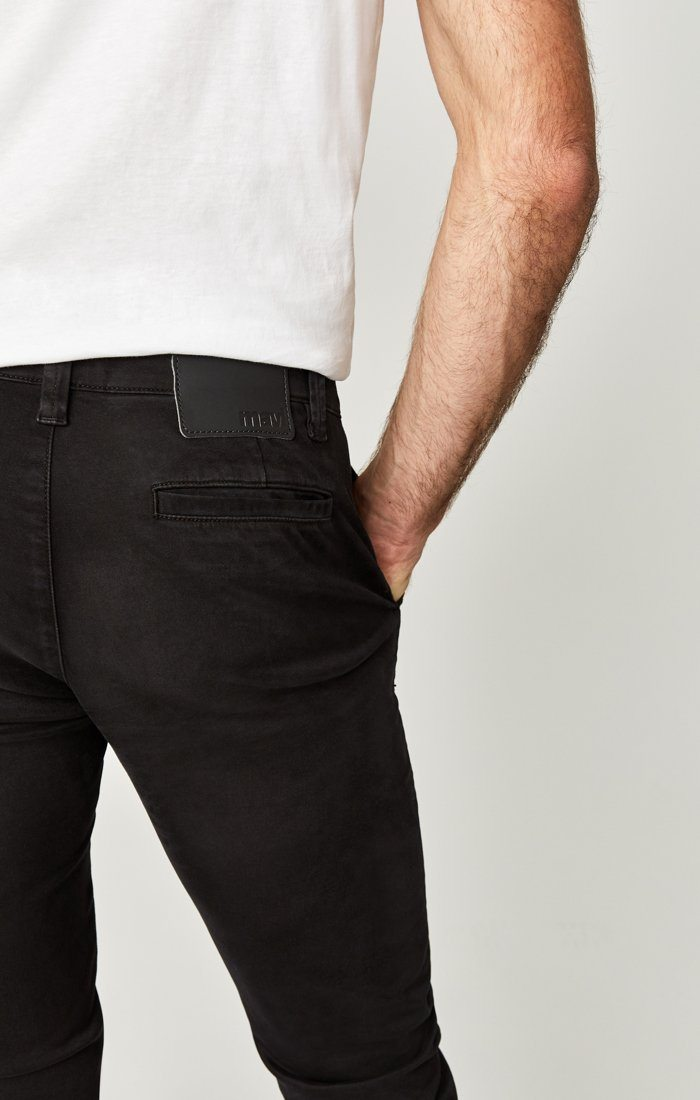 JOHNNY SLIM CHINO IN BLACK SATEEN TWILL Image 8