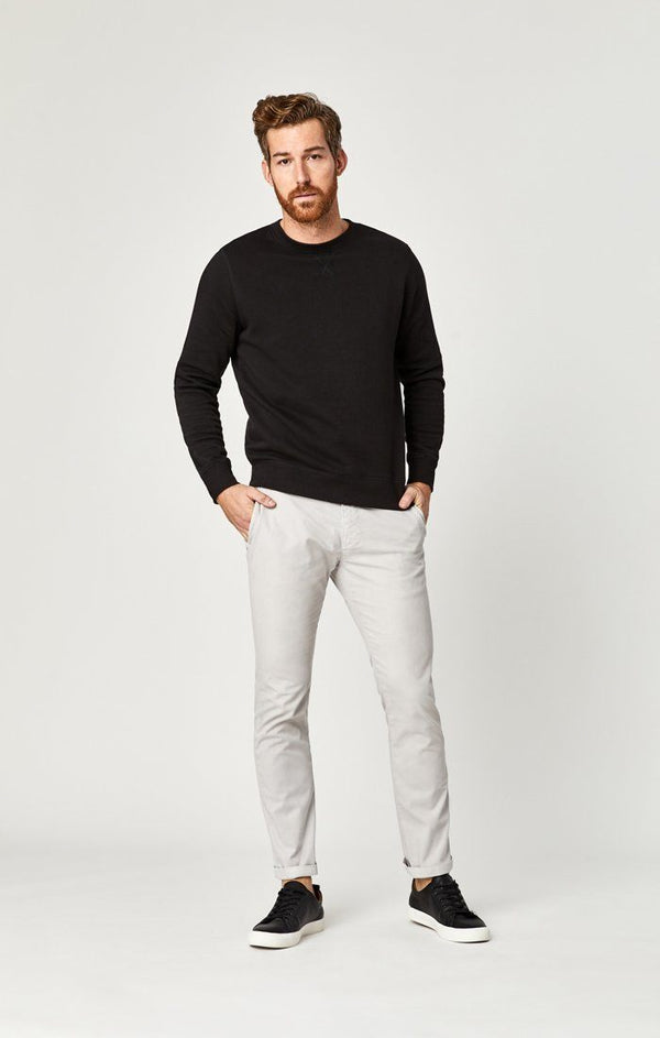 JOHNNY SLIM LEG CHINO IN GREY TWILL - Mavi Jeans