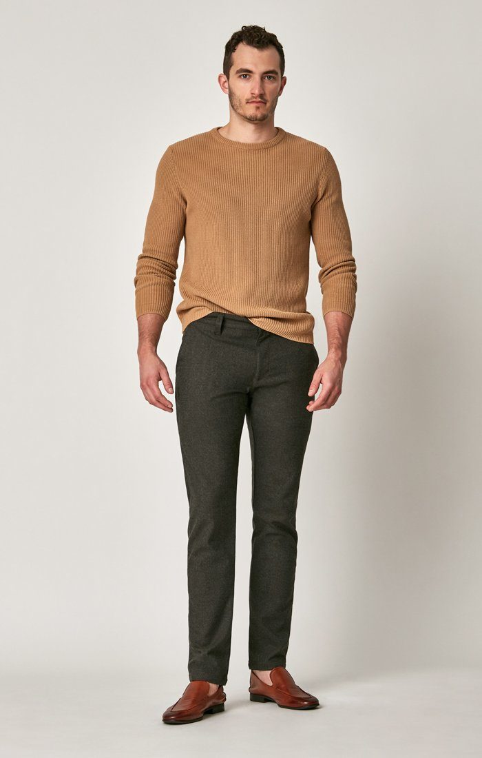 JOHNNY SLIM CHINO IN BROWN FEATHER TWEED - Mavi Jeans