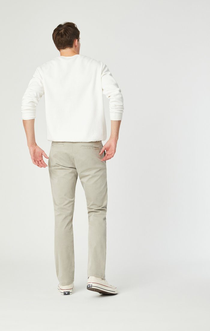 JOHNNY SLIM CHINO IN STONE GREY SATEEN Image 6