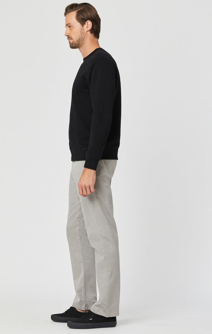 PHILIP RELAXED STRAIGHT LEG IN GREY TWILL Image 4