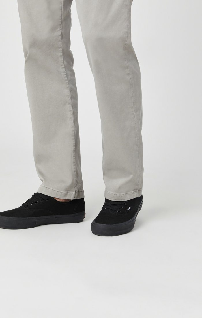 PHILIP RELAXED STRAIGHT LEG IN GREY TWILL Image 6