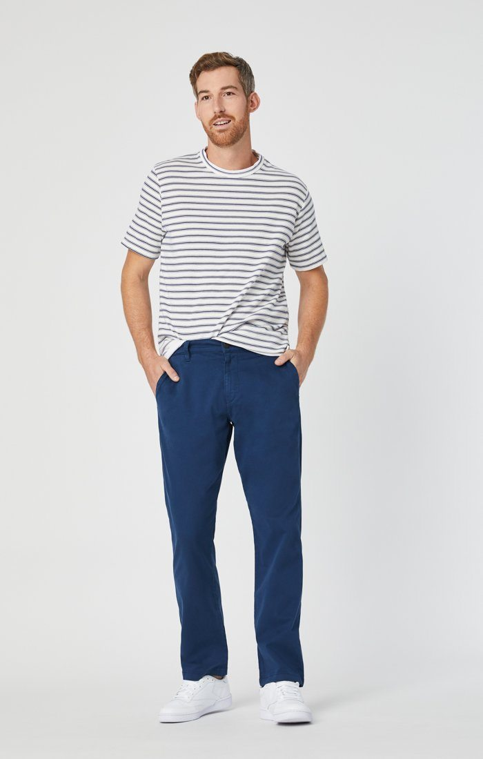 PHILIP RELAXED STRAIGHT CHINO IN NAVY TWILL Image 2