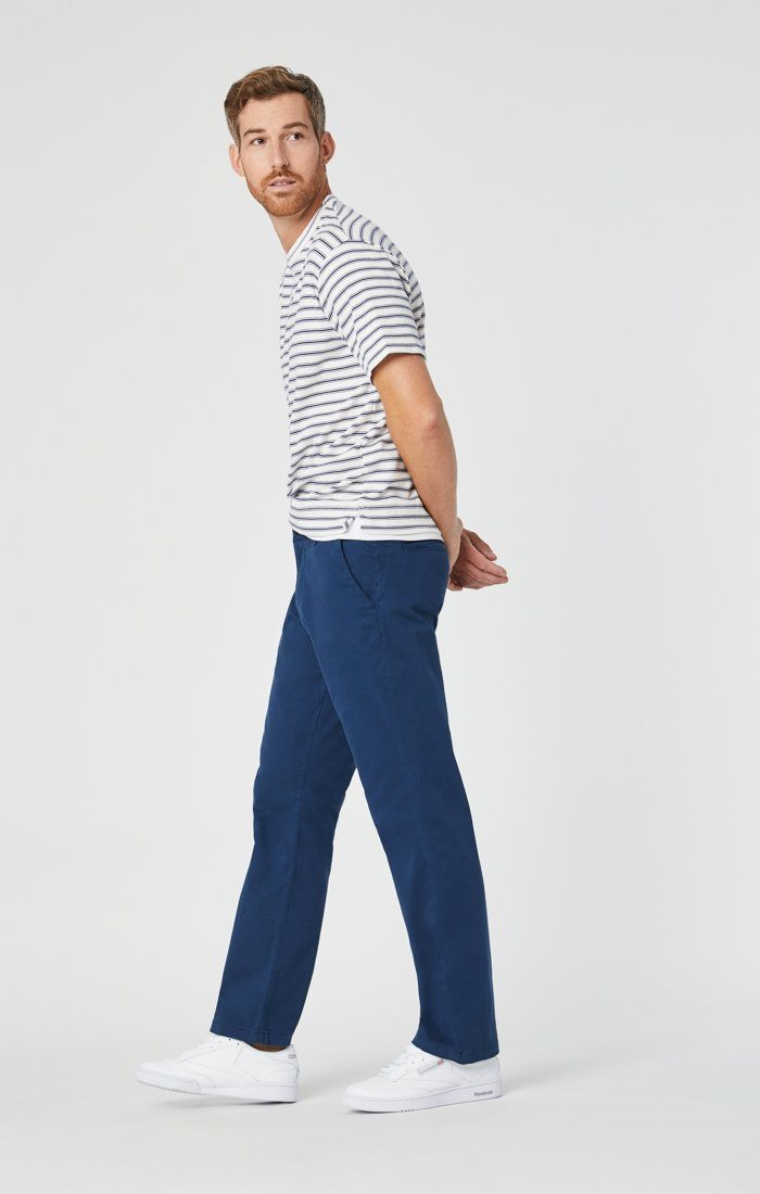 PHILIP RELAXED STRAIGHT CHINO IN NAVY TWILL Image 3