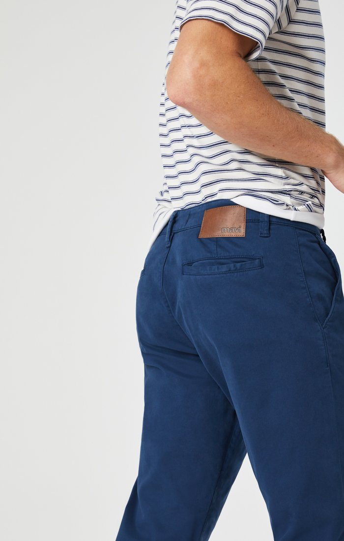 PHILIP RELAXED STRAIGHT CHINO IN NAVY TWILL Image 7