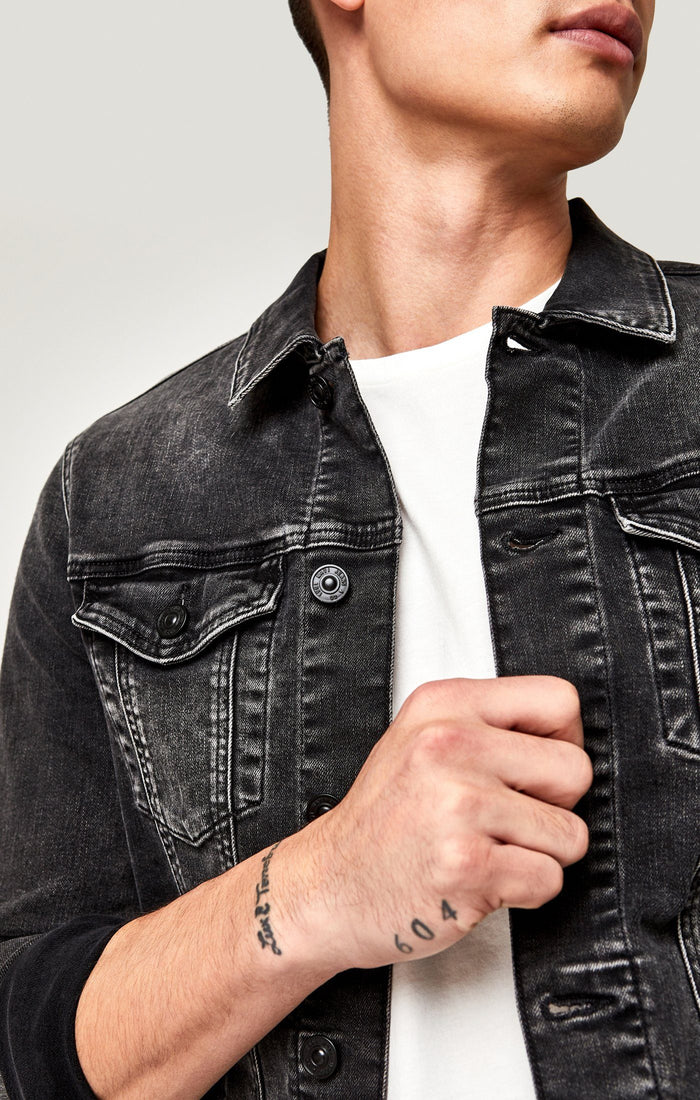 FRANK JACKET IN DARK GREY BROOKLYN - Mavi Jeans