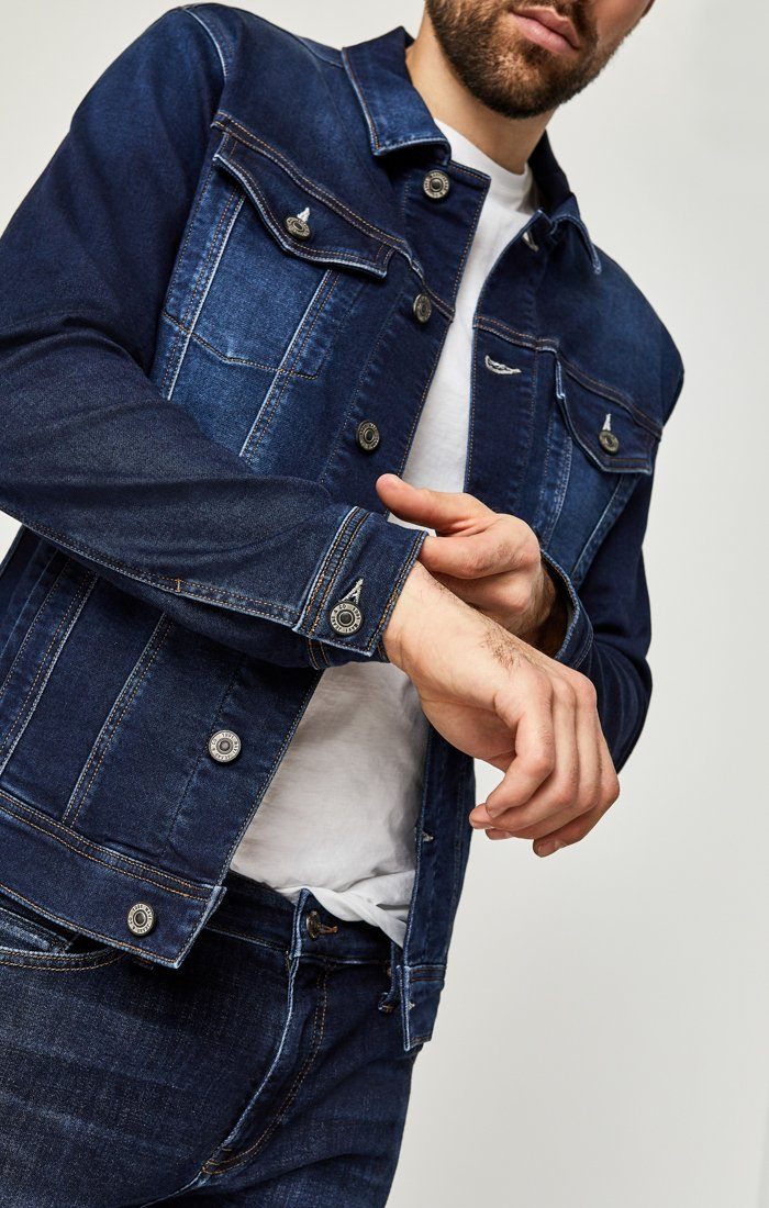 FRANK JACKET IN DARK INDIGO SPORTY - Mavi Jeans