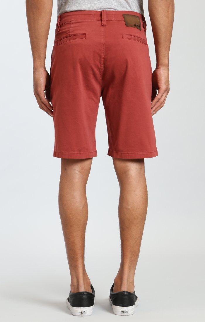 SIMON SHORTS IN ROSE WOOD TWILL Image 4
