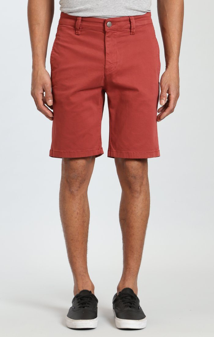 SIMON SHORTS IN ROSE WOOD TWILL Image 2