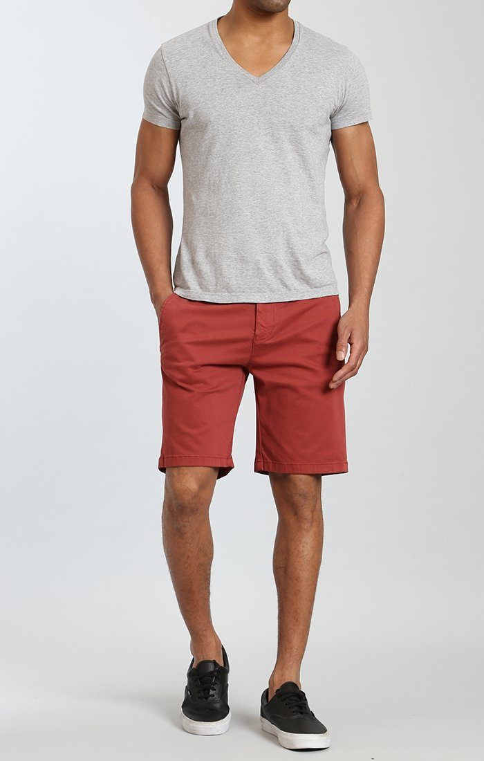 SIMON SHORTS IN ROSE WOOD TWILL Image 1