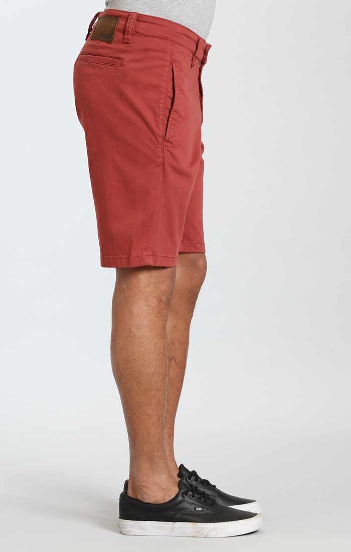 SIMON SHORTS IN ROSE WOOD TWILL Image 3