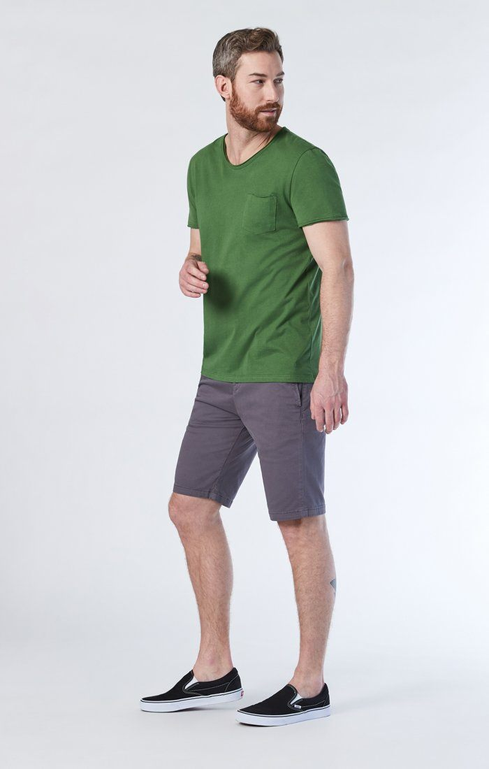 MIKE SHORTS IN STONE GREY TWILL Image 2