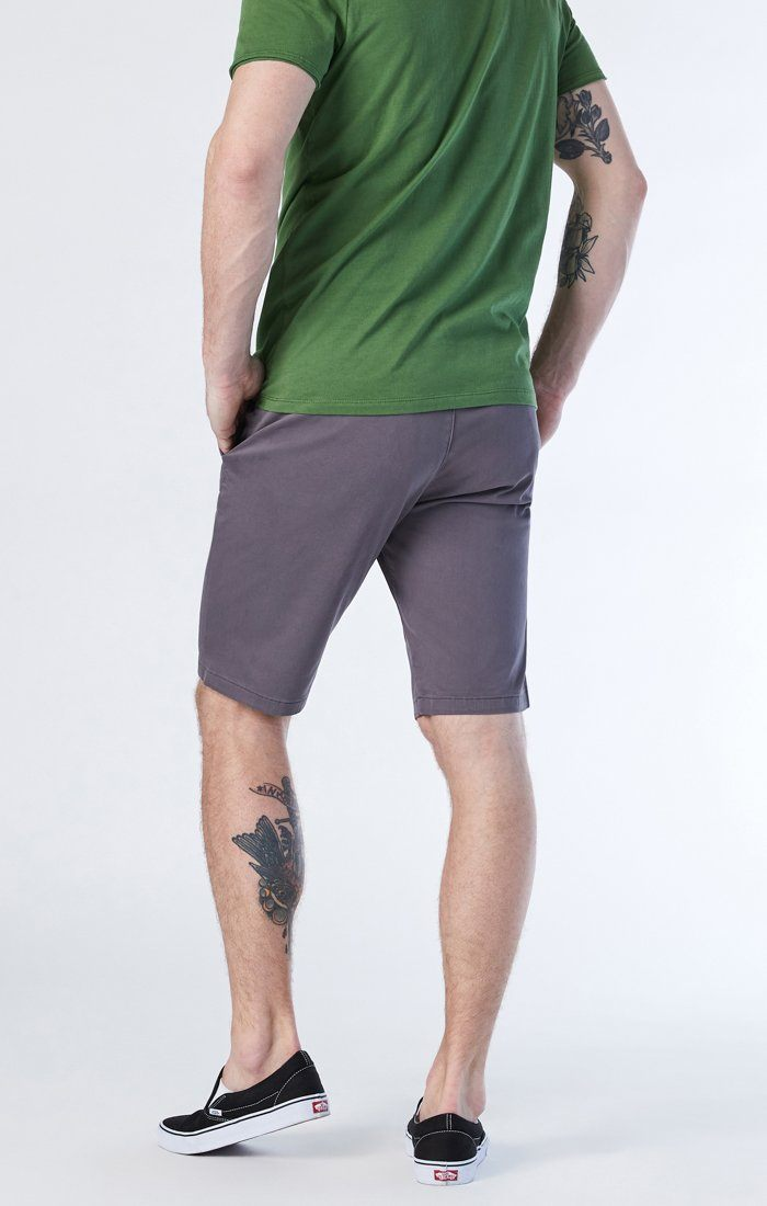 MIKE SHORTS IN STONE GREY TWILL Image 4