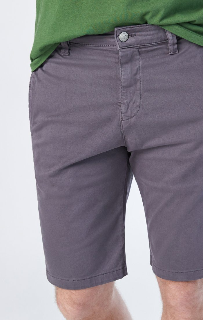MIKE SHORTS IN STONE GREY TWILL Image 3
